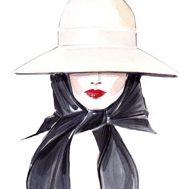"#illustration #portrait #girly #lipstick #red - More illustrations LINE BOTWIN ""illustrations portraits"""