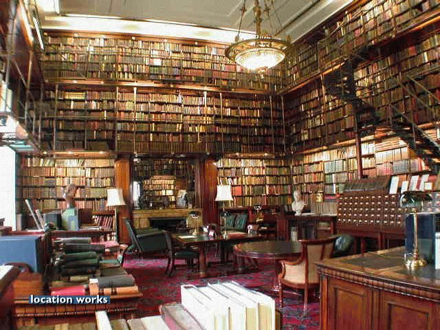 Library of a gentleman's club