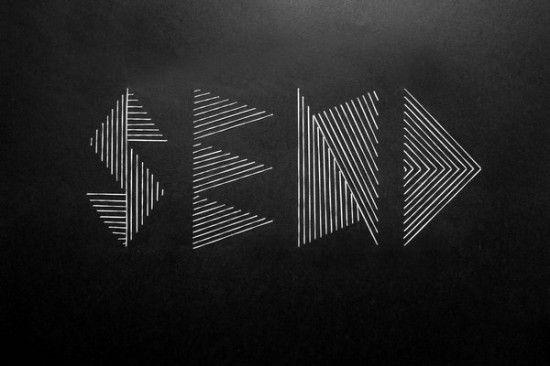 Geometric stitched typography