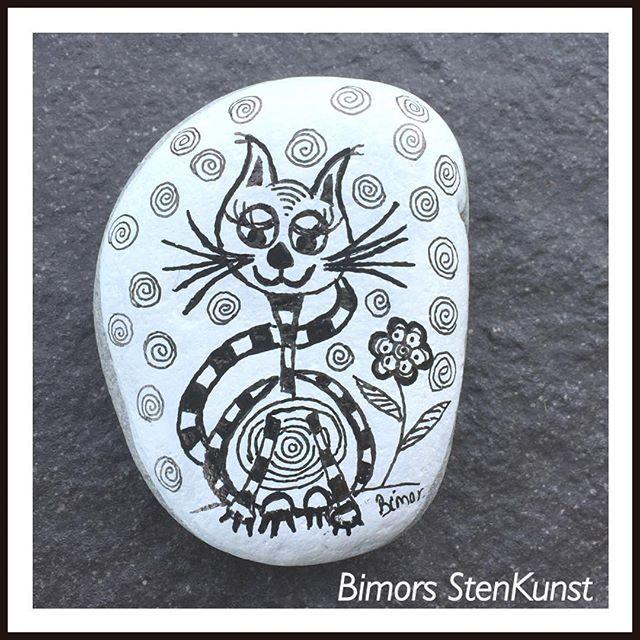 #paintedstones#cat#doodleart