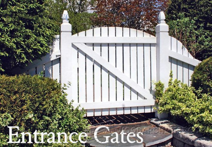 Entrance Gates - Outdoor Plans and Projects | WoodArchivist.com