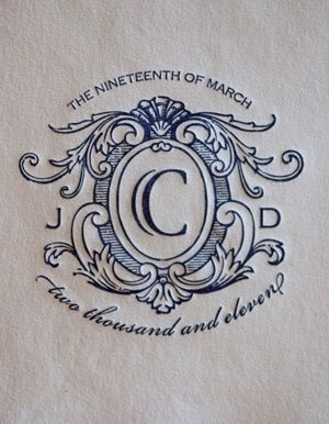 Monogram Napkins in Navy Blue.
