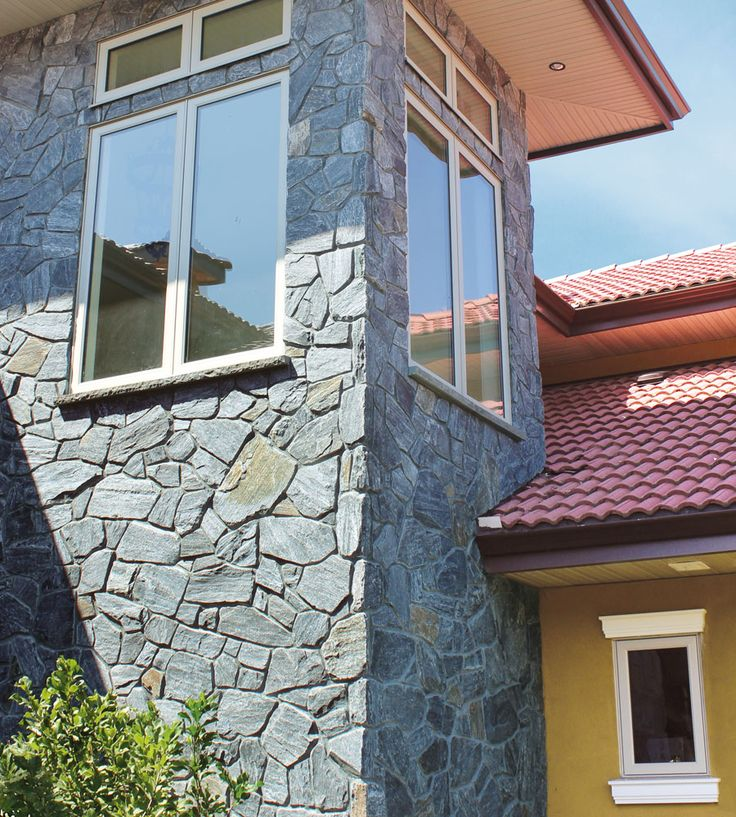 Stone Entrance/Residential Home Exterior: Tuscan, Ledgestone & Tuscan  Feildstone- Pangaea Natural Stone Veneer. Click here to find a dealer: www.
