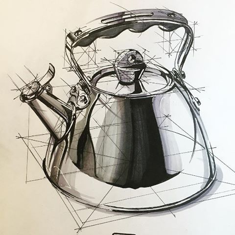 By Hakan Gursu @hakangursudr Kettle sketch                                                                                                                                                     More