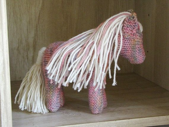 Sadie the knitted Horse, Waldorf, Toy, Christmas