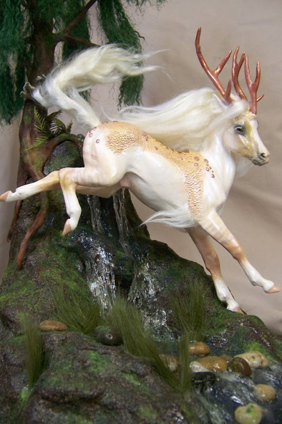 leaping Kirin Qilin Fairy horse ADSG OOAK by redwyvernstudio, $465.00   -- Absolutely talented and perfection.