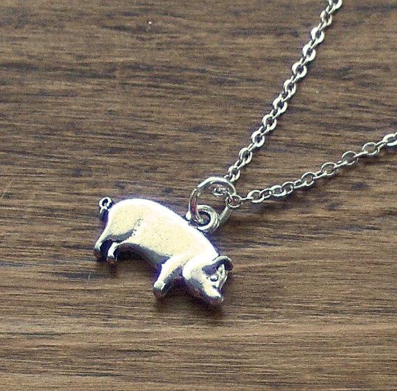 Pig Pendant by beadingshaz on Etsy, £5.00