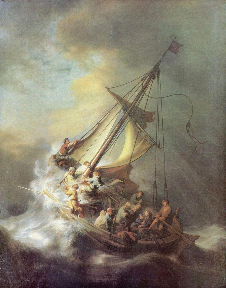 tempesta nel mare di Galilea -Rembrandt