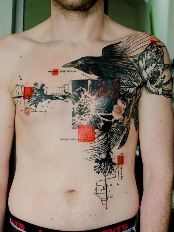 1000 ideas about chest tattoos for men on pinterest mens tattoos chest archangel tattoo and. Black Bedroom Furniture Sets. Home Design Ideas