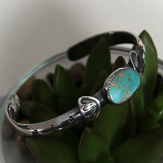 Turquoise cuff bracelet Sterling silver cuff bracelet