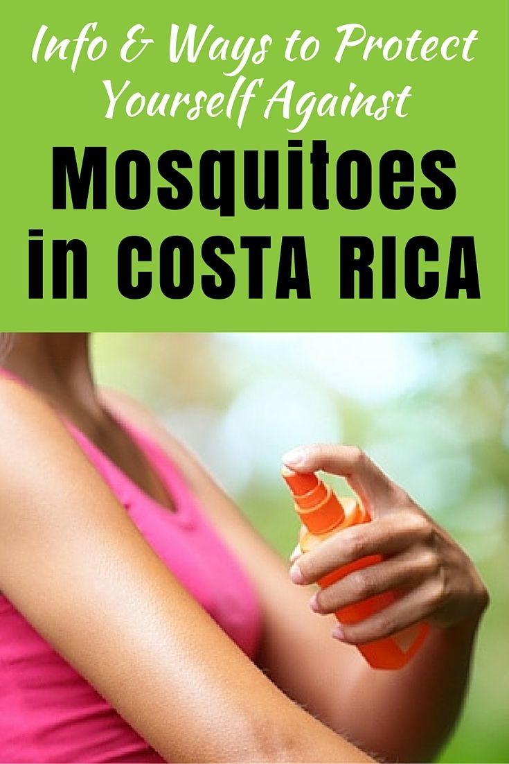 Tips and Info on Ways to Prevent Mosquito Bites in Costa Rica. Lots of info on Zika and other mosquito-borne illnesses to watch out for.
