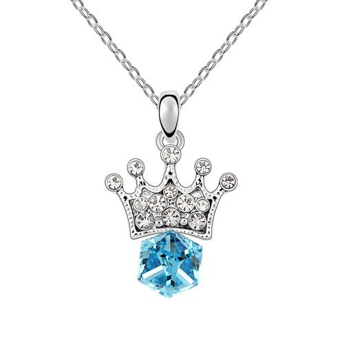 2014 Hot Sale New Freeshipping Cute Women Pendant Necklaces Rhinestone Necklaces Jewelry Austrian Necklace - Princess Lover $10.45