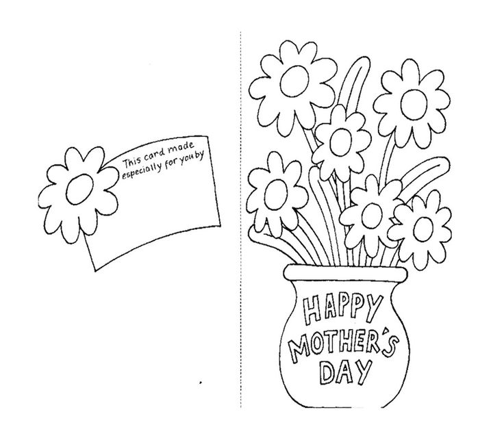 Printable Mothers Day Cards For: Greeting Card For Mother's Day Coloring Page For Kids