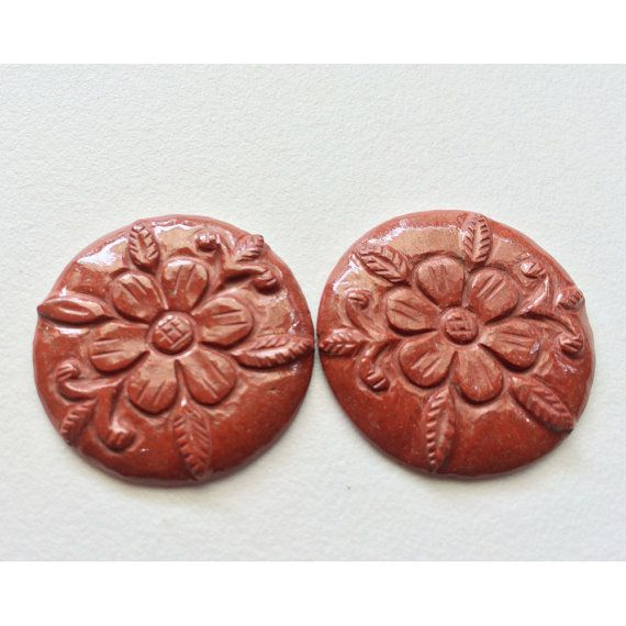 Red Jasper Hand Carving Hand Carved Filigree by gemsforjewels