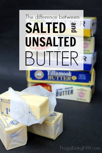 The difference between salted & unsalted butter