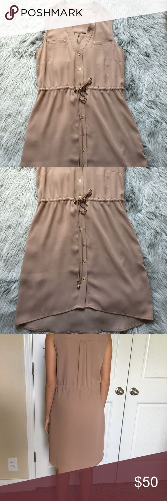 Guess dress Nude Dress from Guess! Worn only once. Size XS Guess Dresses