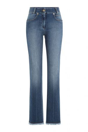 Sonia Rykiel Sonia Rykiel Cropped Flared Jeans aus Baumwoll-Stretch – Blau