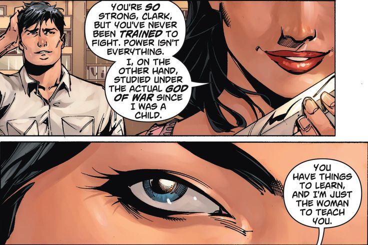 You have to love a strong woman - from Superman Wonder Woman 001