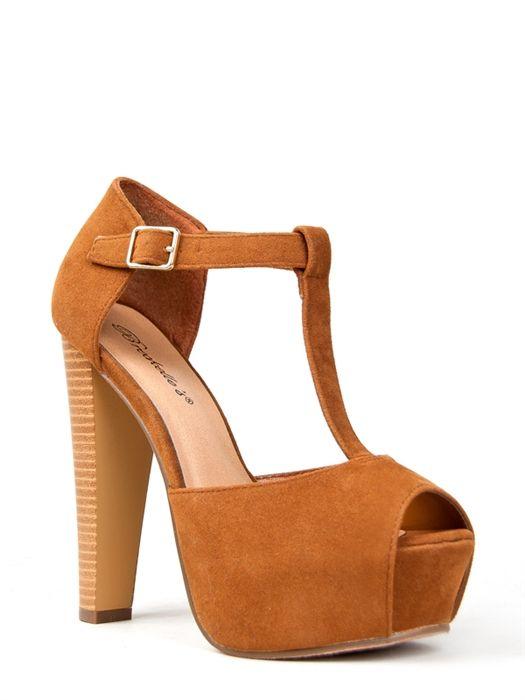 Breckelles BRINA-01 T-Strap Platform Heel   Shop Shoes   Shoes to ...