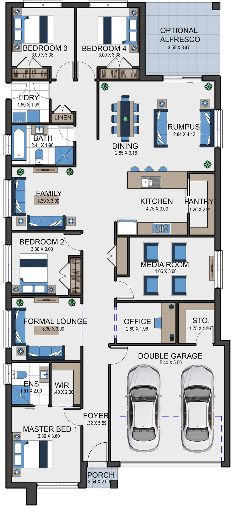 The Luxor 26 offers open living spaces
