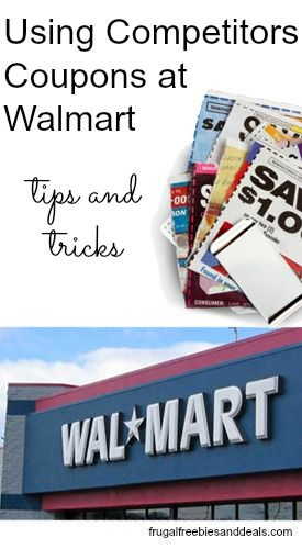Using Competitors Coupons at Walmart http://www.frugalfreebiesanddeals.com/using-competitors-coupons-at-walmart/