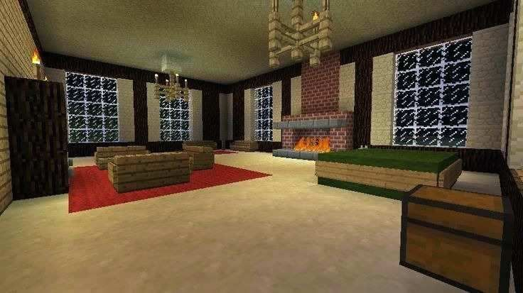 20 Living Room Ideas Designed In Minecraft Minecraft Room Decor Living Room In Minecraft Minecraft Bedroom Decor