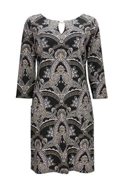 Wallis Black Paisley Print Shift Dress Size Uk 14 Rrp 36 Dh182 Dd 07 Fashion Clothing Shoes Accessories Womens Vestidos Casuais Vestidos Calca Alfaiataria