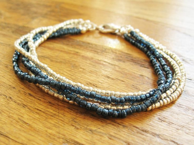 Make This - Multi-Strand Bracelet or Necklace - Luxe DIY - How Did You Make This? - I'm a sucker for a nice multi-strand bracelet :)