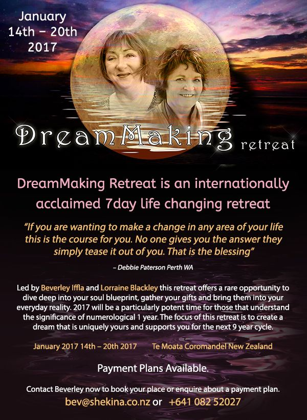 Time to book for the DreamMaking retreat in January!  Find out more . .  DrumRoll ... and the beat goes out ...Issue 69 sent Wed 16th November http://conta.cc/2fWuFfL #DrumRoll #DrumRollPromotions #NewZealand #wellbeing #connection #community #Beverely #DreamMakingRetreat #Retreat