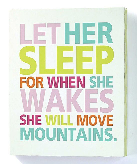 'Let Her Sleep' Wall Sign