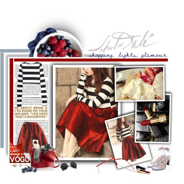 Blogger Style: Choies in red by theroyalcrime on Polyvore featuring moda, John Lewis, Chanel and Salvador Dali
