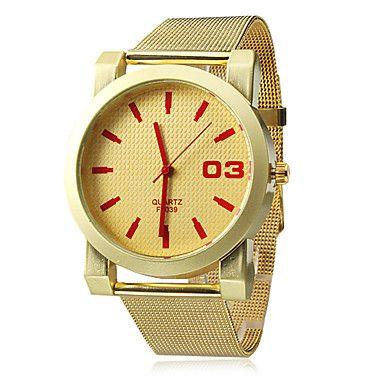 Kvinders Analog Quartz Gold Mesh Steelband armbåndsur (assorterede farver) – DKK kr. 66