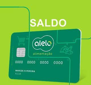 Saldo do Cartão Alelo - ELO Alimentação Refeição