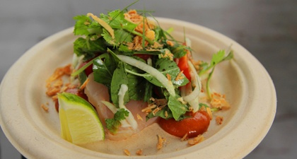Smoked Albacore Tuna & Green Papaya Salad from Toronto, Ontario's El Gastronomo Vagabundo. #EatStBook