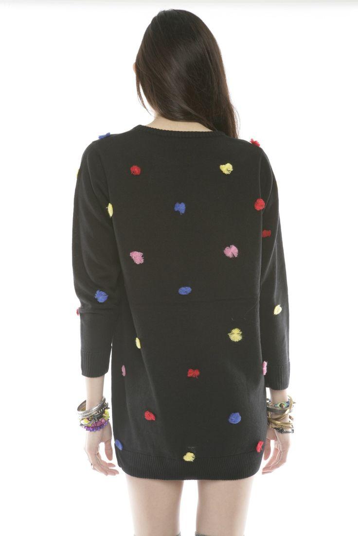 Lazy Oaf Pom-Pom Sweater Dress