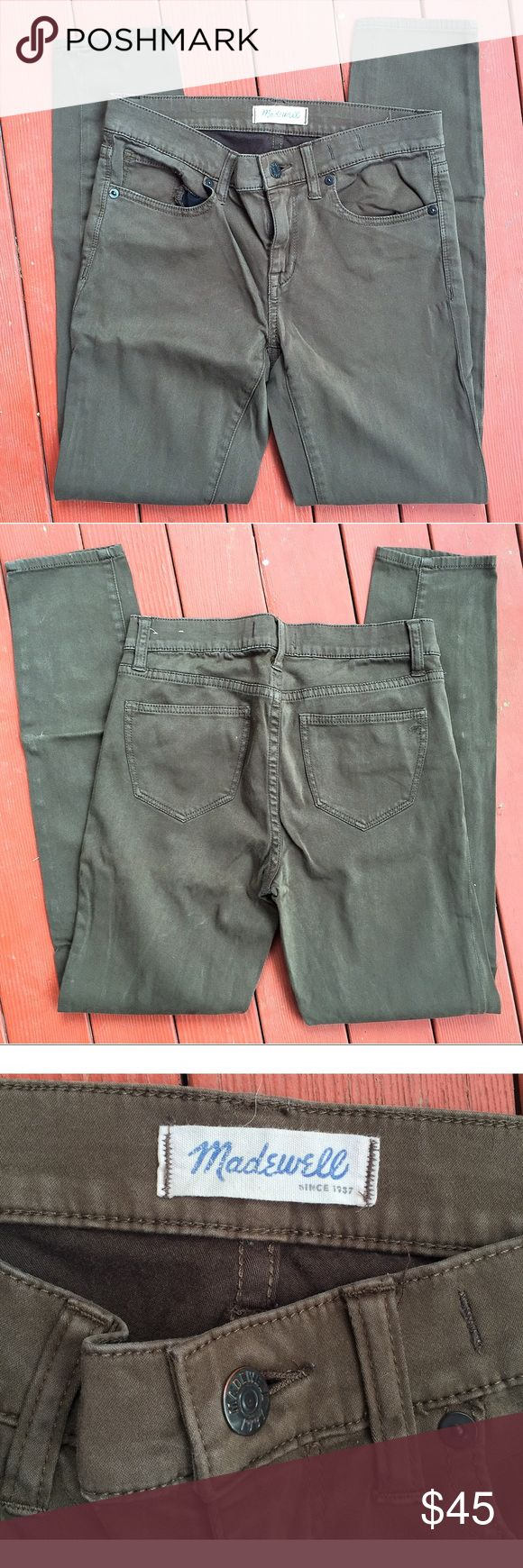 Madewell Olive Skinny Skinny Excellent condition. 27'' waist. 8'' rise. 28'' inseam Madewell Pants Skinny