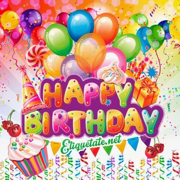 Imágenes de Happy Birthday gratis para compartir Carteles con mensaje 😉 Pinterest