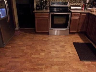 Cork Floor for Kitchen - only $3 per sq ft