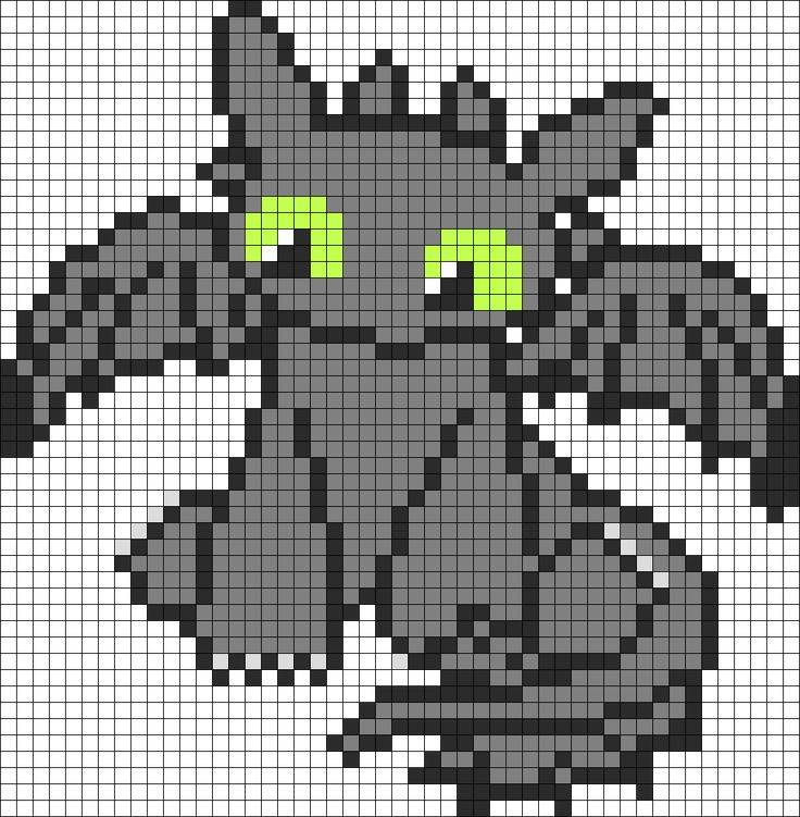 Cutie How To Train Your Dragon Toothless bead pattern