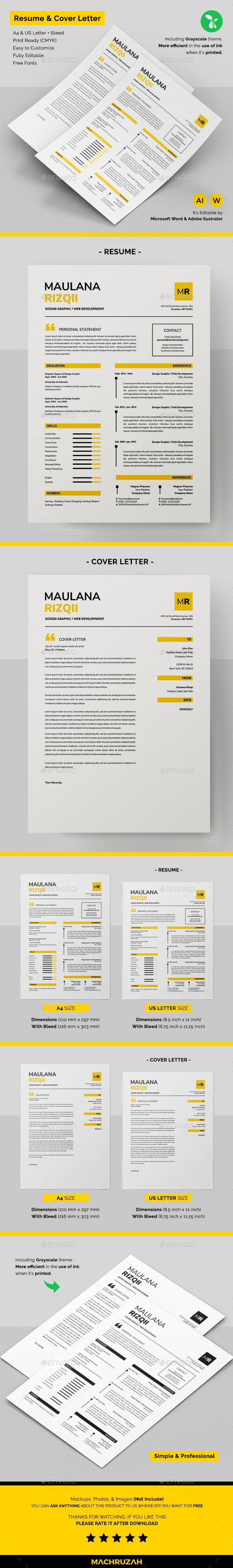 Resume #modern #professional  • Download here → https://graphicriver.net/item/resume/20656782?ref=pxcr