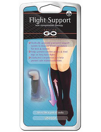 Cool Travel Products | POPSUGAR Smart Living Flight compression support socks ($25) are clinically proven to help blood circulation in the legs and thighs, making them perfect for longer flights and drives.