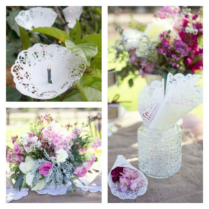 ideas para decorar tu boda con blondas de papel detalles y otras
