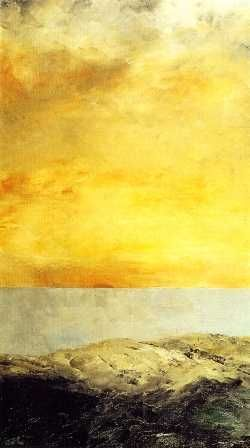 Sun goes down into the sea 1903 August Strindberg