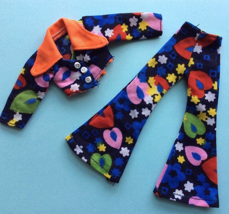 "GROOVY TROUSER SUIT FOR 9"" DOLLS FITS DAISY, WORLD OF LOVE, DISCO GIRLS ETC 