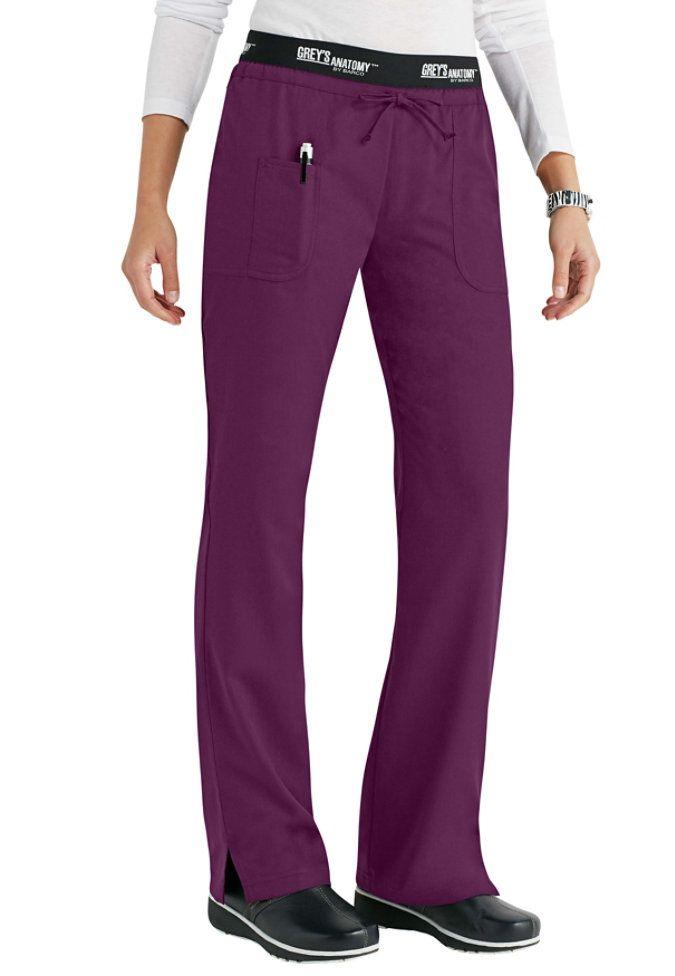 Grey's Anatomy 3 pocket low rise logo waist scrub pant (in Romance)