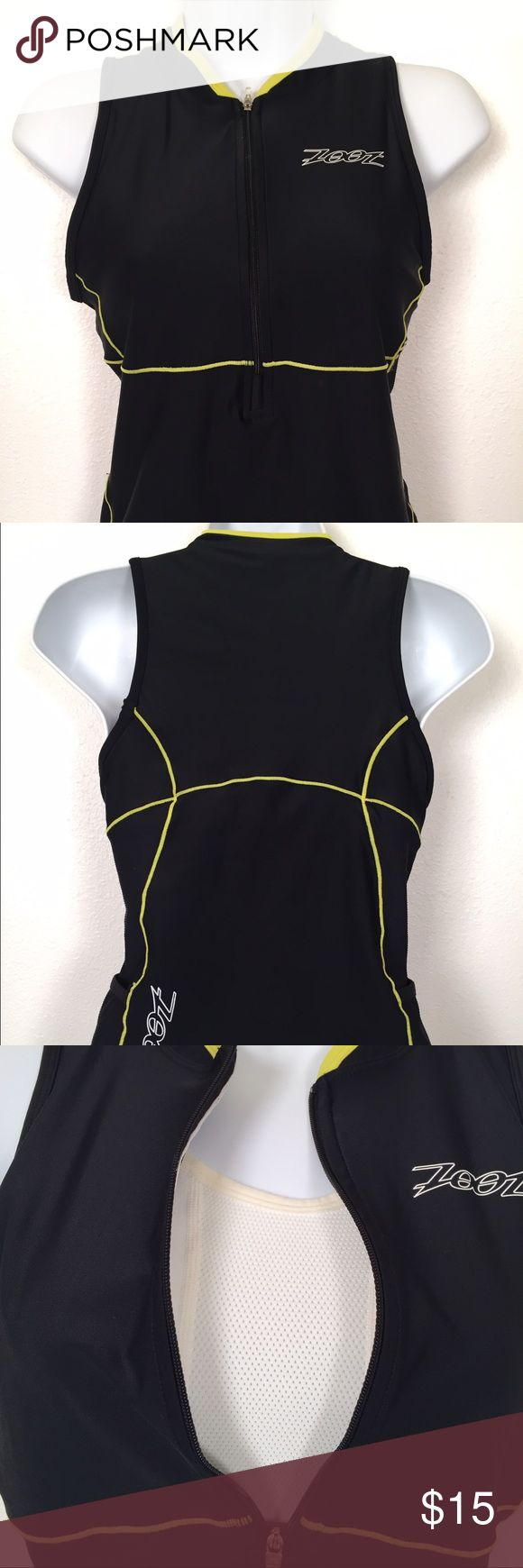"NOW ON SALE Zoot triathlon Mesh Tank Women's medium triathlon mesh tank Performance Endura fabric helps you stay dry. Dual side pockets for nutrition storage 9""camlock zipper with soft finish zipper  Complete bra w/no padding or underwire. Measurements  bust 35 to 37"" Waist 28 to 30"" Hips 37 to 39  Excellent condition Clean and ready to wear No stains, snags or damage Comes from a pet free smoke free environment Not the right size , color or style you're looking for check out Molly's closet…"