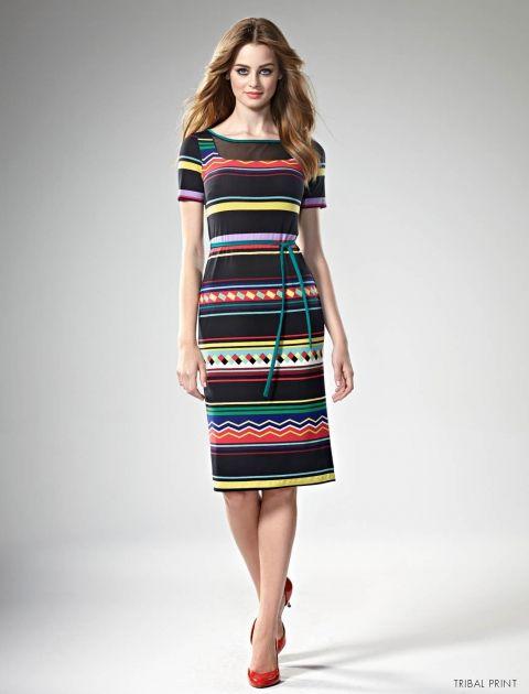 Get Frocked! with Leona Edmiston www.leonaedmiston.com.au Astrid dress tribal print dress   stream lined silhouette dress   stripe midi dress