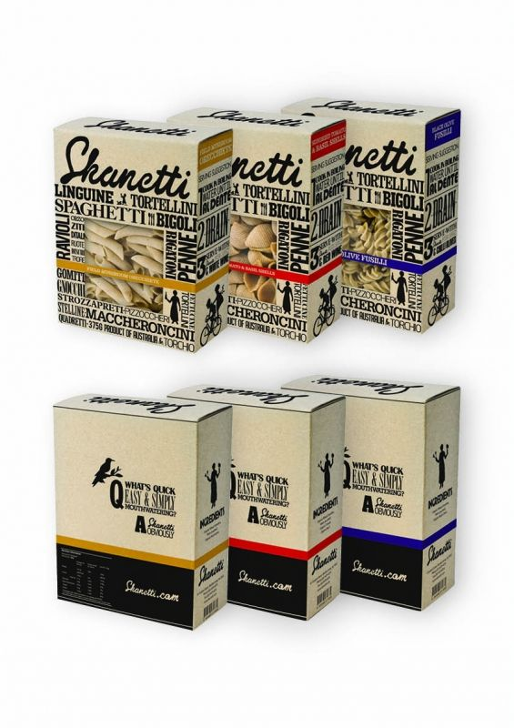 Pasta Packaging- like or dislike?  I am on the fence.  Probably dislike the top design, it feels busy but I like they tried to do something different.
