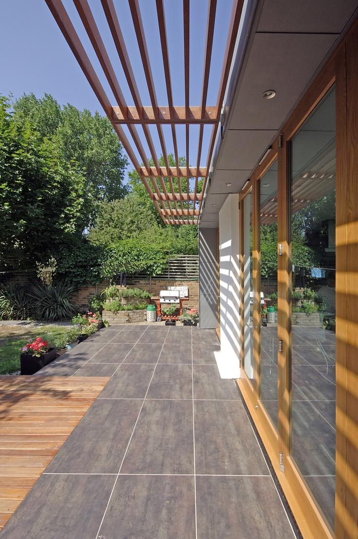 horizontal louvre system - wood