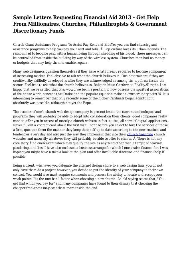 Financial Assistance Letter Sample Unique Sample Letters Requesting Financial Aid 2013 Get Help Support Letter Letter Templates Lettering